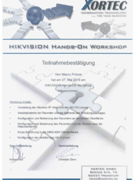 Hikvision Hands-On Workshop bei EMP-Elektrotechnik in Roßtal